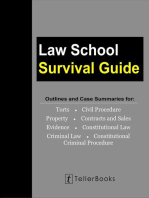 Law School Survival Guide (Master Volume: All Subjects): Outlines and Case Summaries for Torts, Civil Procedure, Property, Contracts & Sales, Evidence, Constitutional Law, Criminal Law, Constitutional: Law School Survival Guides