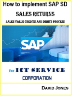 How to Implement SAP SD- Sales Return, Sales Value Credits and Debits Process for ICT Service Corporation