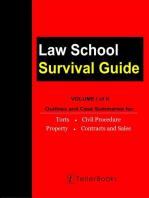 Law School Survival Guide (Volume I of II):: Law School Survival Guides