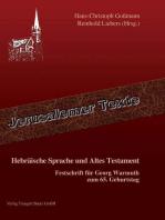 Hebräische Sprache und Altes Testament