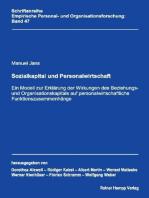 Sozialkapital und Personalwirtschaft