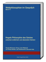 Hegels Philosophie des Geistes zwischen endlichem und absolutem Denken