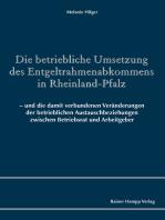 Die betriebliche Umsetzung des Entgeltrahmenabkommens in Rheinland-Pfalz