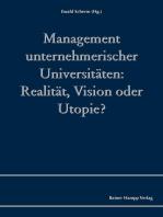 Management unternehmerischer Universitäten