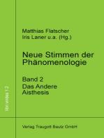 Neue Stimmen der Phänomenologie, Band 2: Das Andere. Aisthesis