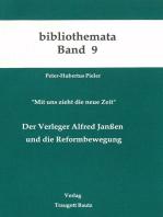 Der Verleger Alfred Janssen und die Reformbewegung