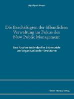 Die Beschäftigten der öffentlichen Verwaltung im Fokus des New Public Management