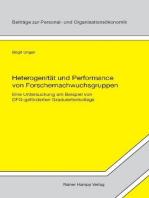 Heterogenität und Performance von Forschernachwuchsgruppen
