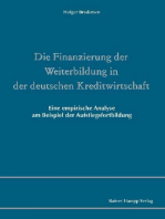 Die Finanzierung der Weiterbildung in der deutschen Kreditwirtschaft
