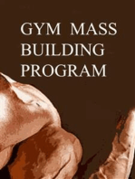 Gym Mass Building Program