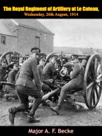 The Royal Regiment of Artillery at Le Cateau