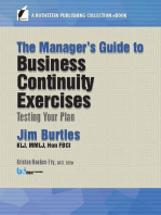 The Manager's Guide to Business Continuity Exercises