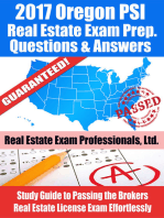 2017 Oregon PSI Real Estate Exam Prep Questions, Answers & Explanations