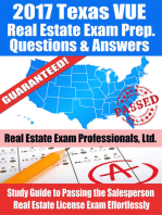 2017 Texas VUE Real Estate Exam Prep Questions, Answers & Explanations