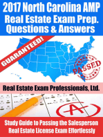 2017 North Carolina AMP Real Estate Exam Prep Questions, Answers & Explanations