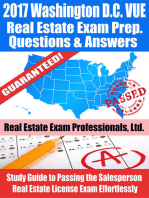 2017 Washington D.C. VUE Real Estate Exam Prep Questions, Answers & Explanations