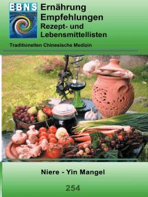 Ernährung - TCM - Niere - Yin Mangel: TCM-Ernährungsempfehlung - Niere - Yin Mangel