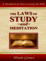 The Laws of Study and Meditation