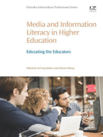 Media and Information Literacy in Higher Education: Educating the Educators