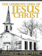 The Church's Need of Jesus Christ