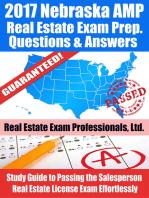 2017 Nebraska AMP Real Estate Exam Prep Questions, Answers & Explanations