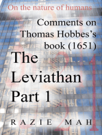 Comments on Thomas Hobbes Book (1651) The Leviathan Part 1