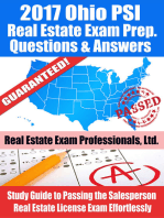 2017 Ohio PSI Real Estate Exam Prep Questions, Answers & Explanations