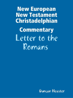 New European New Testament Christadelphian Commentary