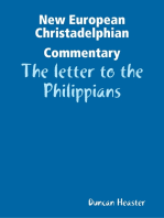 New European Christadelphian Commentary – The letter to the Philippians