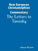 New European Christadelphian Commentary