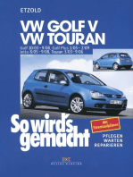 VW Golf V 10/03-9/08+VW Touran I 3/03-9/06+VW Golf Plus 1/05-2/09+VW Jetta 8/05-9/08
