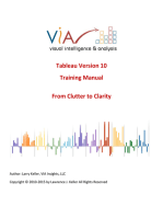 Tableau Training Manual Version 10.0 Basic: From Clutter to Clarity