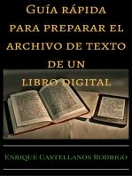 Guía rápida para preparar el archivo de texto de un libro digital