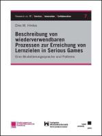 Beschreibung von wiederverwendbaren Prozessen zur Erreichung von Lernzielen in Serious Games