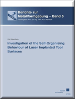 Investigation of the Self-organising Behaviour of Laser Implanted Tool Surfaces