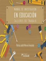 Manual de investigación en educación: Talleres de trabajo