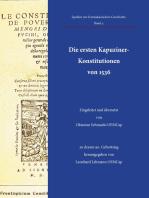 Die ersten Kapuziner-Konstitutionen von 1536