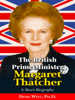 The British Prime Minister Margaret Thatcher