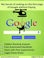 My Secret of Ranking on the First Page of Google without Paying