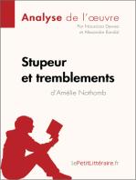 Stupeur et tremblements d'Amélie Nothomb (Analyse de l'oeuvre)