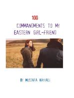 100 commandments to my eastern girlfriend
