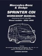 Mercedes Benz & Dodge Sprinter CDI 2000-2006 Owners Workshop Manual