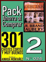Pack Ahorra al Comprar 2 (No 024): 301 Chistes Cortos y Muy Buenos & Enseña a dibujar en una hora