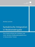 Syntaktische Integration in Redewiedergabe