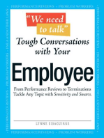 We Need To Talk - Tough Conversations With Your Employee