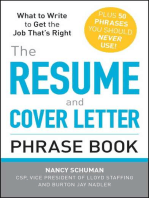 The Resume and Cover Letter Phrase Book