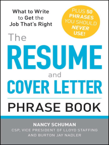 Read The Resume And Cover Letter Phrase Book Online By Nancy Schuman And Burton Jay Nadler Books