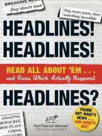 Headlines! Headlines! Headlines?