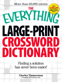 Read The Everything Large Print Crossword Dictionary Online By Charles Timmerman Books