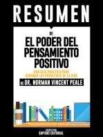 El Poder del Pensamiento Positivo: Una Guia Practica Para Dominar Los Problemas De La Vida Cotidiana (The Power of Positive Thinking): Resumen del Libro de Norman Vincent Peale